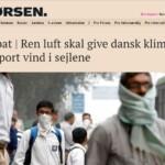 Indlæg fra Luftvisionen i Børsen: Ren luft skal give dansk klimaeksport vind i sejlene